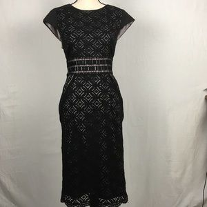 Antonio Melani Classic black lace sheath dress 12